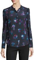 Rebecca Taylor Bellflower Long-Sleeve Silk Blouse