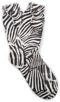 Missoni Zebra-Print Crochet-Knit Cashmere Socks