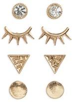 BP Women's Set Of 4 Stud Earrings
