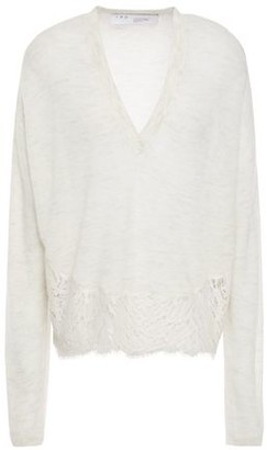 IRO Hysteria Lace-trimmed Knitted Sweater