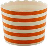 Container Store Large Baking Cups Stripe Orange Pkg/20