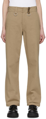 R 13 Tan Ring Slouch Trousers