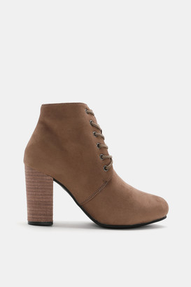 Ardene Faux Suede Ankle Booties - Shoes |