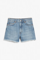 Thumbnail for your product : Monki High waist denim shorts
