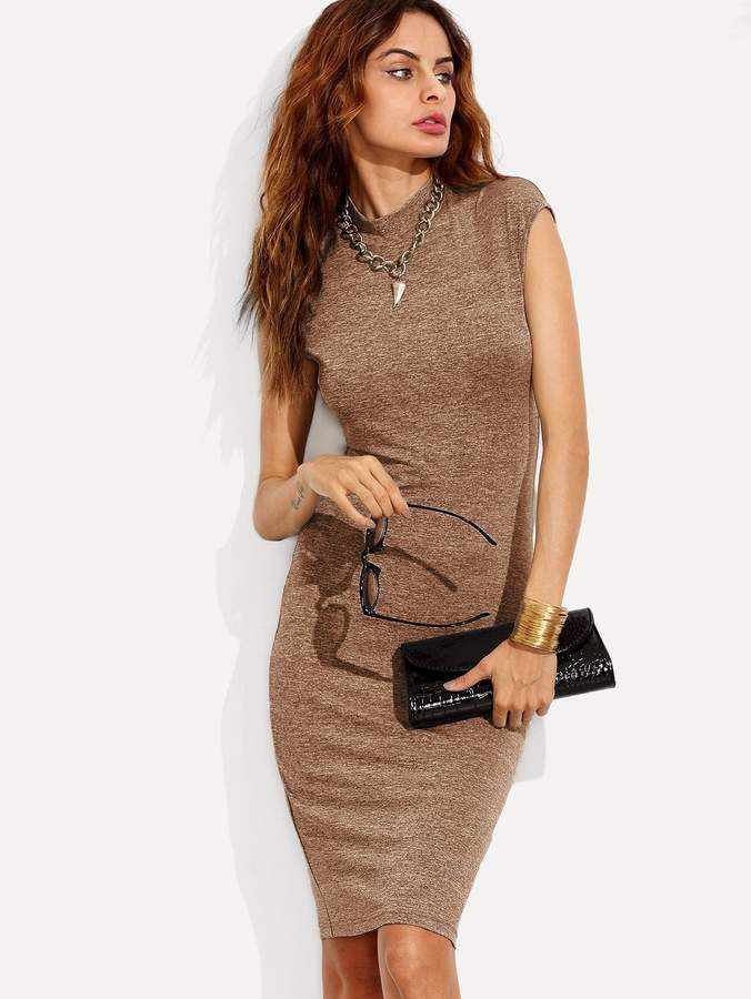 Shein Marled Knit Fitted Dress