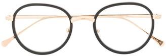Matsuda Acetate-Trimmed Round-Frame Glasses
