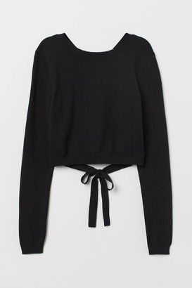 H&M Open-backed Sweater