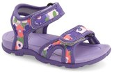 Bogs Toddler Girl's 'Whitefish Flowers' Waterproof Sandal