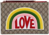 Gucci Love Patch Gg Supreme Pouch