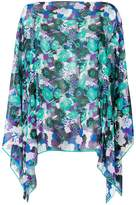 Ungaro printed cape blouse