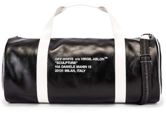Off-White Off White Duffle Bag in Black & White | FWRD