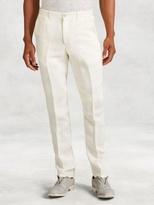 John Varvatos Linen Slim Straight Pant