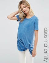 Asos Washed Top With Tucked Front