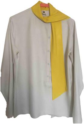 Hermes White Silk Tops