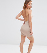 Asos Sexy Rib Mini Bodycon Dress with Scoop Back & Strappy Back