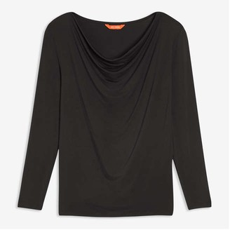 Joe Fresh Women's Cowl Neck Tee, JF Black (Size XL)