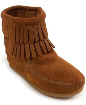 Minnetonka Big Girls Double Fringe Side Zip Boot