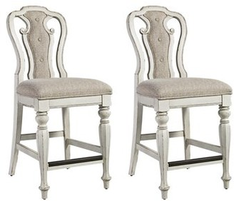 Lark Manor Tiphaine Upholstered Queen Anne Back Side Chair in White