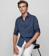 Reiss Jason - Cotton Shirt in Blue, Mens