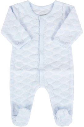 Absorba Light Blue Babygrow For Baby Boy With Clouds