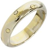 Bulgari Bvlgari 18K Yellow & White Gold Onda Band Ring Size Large