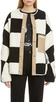 Sandy Liang Pawn Check Fleece Jacket