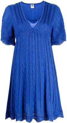 M Missoni knitted V-neck mini dress