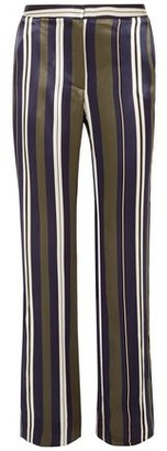 Paul & Joe Striped Satin-twill Straight-leg Pants