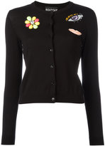 Moschino patched cardigan - women - Cotton/Virgin Wool - 44