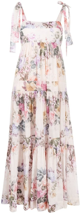 Zimmermann Brighton tie-shoulder floral dress