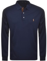 Ralph Lauren Pima Polo T Shirt Navy