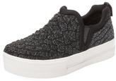 Ash Jane Glitter Platform Slip-On Sneaker