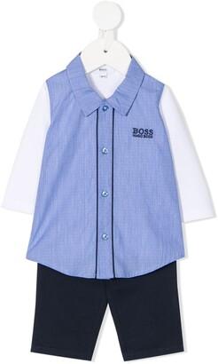 Boss Kidswear Shirt And Trouser Set
