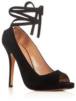 Alexa Wagner Evelyn Ankle Tie Peep Toe Pumps