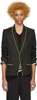 Haider Ackermann Black and Gold Linen Blazer