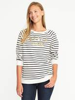 Old Navy Relaxed Graphic Crew-Neck Sweatshirt for Women