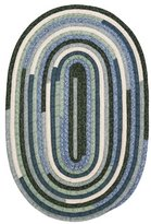 Colonial Mills Braided Oval Area Rug 4'x6' Seafoam Quilters Choice Collection