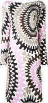 Emilio Pucci Bersaglio print long sleeve dress - women - Silk/Viscose - 44