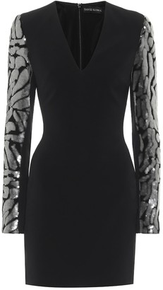 David Koma Exclusive to Mytheresa Sequined crepe minidress