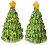 Threshold Salt and Pepper Shaker Set Ceramic Trees Green