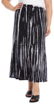 Karen Kane Size Tie-Dyed Maxi Skirt