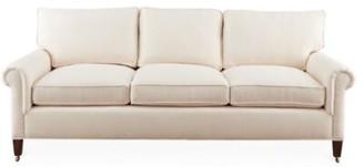 "Imagine Home McKinnon 82"" Wide Cotton Sofa Fabric: Navy Dot Stripe 100% Cotton"