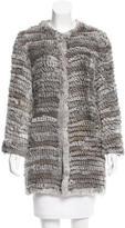 Adrienne Landau Knit Fur Coat