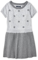 Nautica Girls 7-16) Polka Dot Pleated Sweater Dress