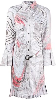 Thebe Magugu Suminagashi tie-dye print shirt dress