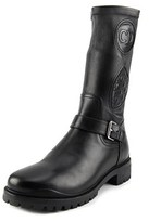 Christian Dior Maniac Stretch Low Boot Round Toe Leather Mid Calf Boot.