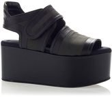 Marni Canvas Black Wedge Shoe