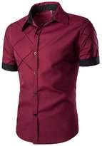 Billila Slim Fit Dress Shirt Short Sleeve Casual Shirts