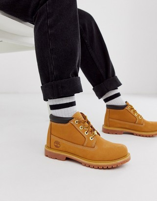Timberland Kenniston Nellie wheat beige nubuck leather flat ankle boots