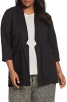 Eileen Fisher Plus Size Women's Organic Linen Blend Jacket